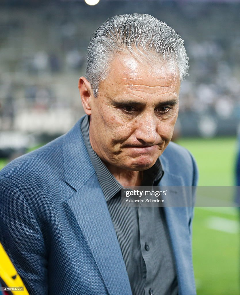 <a gi-track='captionPersonalityLinkClicked' href=/galleries/search?phrase=Tite+-+Braziliaans+voetbalcoach&family=editorial&specificpeople=10072994 ng-click='$event.stopPropagation()'>Tite</a>, coach of Corinthians in action during the match between Corinthians and Ponte Preta for the Brazilian Series A 2015 at Arena Corinthians stadium on July 02, 2015 in Sao Paulo, Brazil.