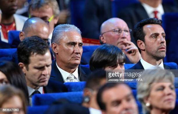 Tite Manager of Brazil looks on during the Final Draw for the 2018 FIFA World Cup Russia at the State Kremlin Palace on December 1 2017 in Moscow...