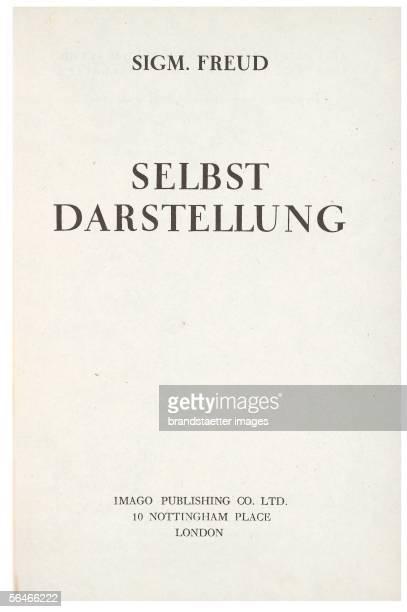 Title page 'An autobiographical study' Author Sigmund Freud First edition 1925 [Titelblatt 'Selbstdarstellung' Autor Sigmund Freud Erstausgabe 1925]