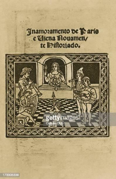 'Inamoramento de Paris e Viena Nouamente Historiado' a history of courtly love in Paris and Vienna by Piero da Bergamo prinited in Venice in 1511 A...