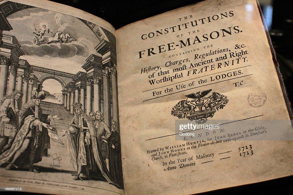 Title Page of the Freemason Constitution Freemasons' museum