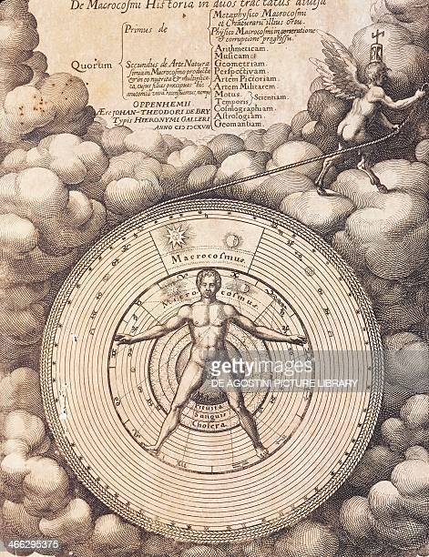 Title page of The history of the macrocosm The metaphysical physical and technical history of both major and minor worlds by Robert Fludd Oppenheim...