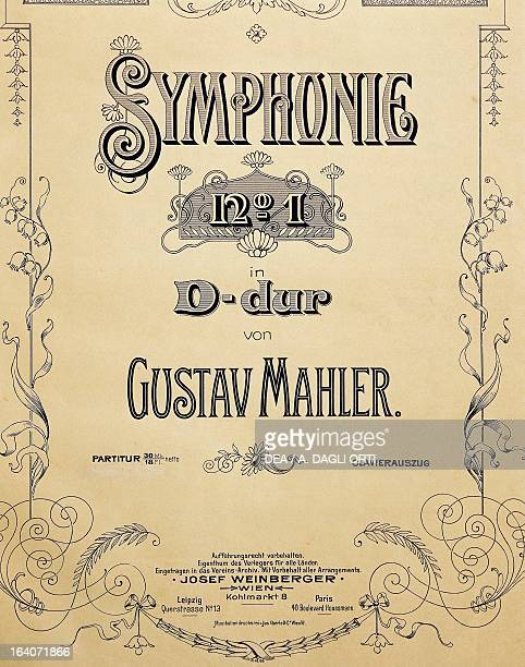 Title page of the score for Symphony No 1 in D major 18851888 by Gustav Mahler Vienna Gesellschaft Der Musikfreunde