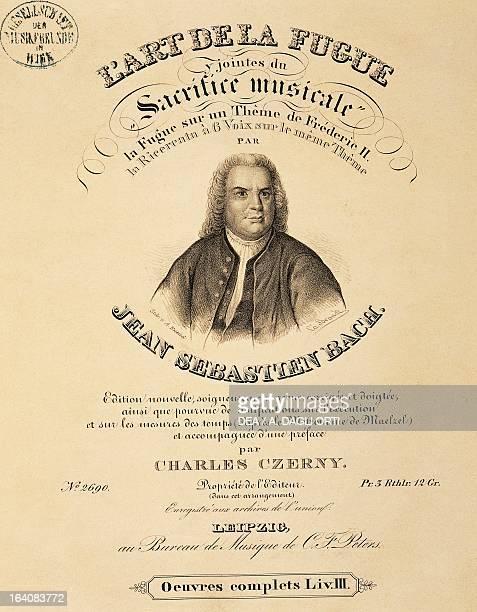 Title page of the score for The art of fugue by Johann Sebastian Bach Vienna Gesellschaft Der Musikfreunde