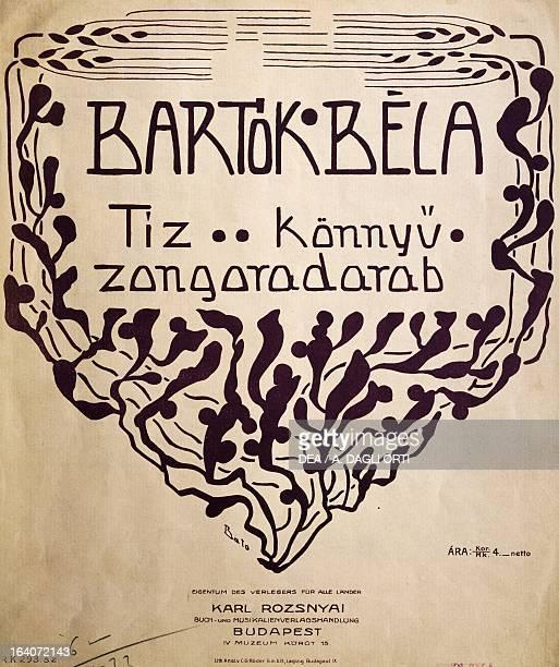 Title page of Tiz konnyu zongoradarab by Bela Viktor Janos Bartok Budapest Bartok Bela Emlekhaz