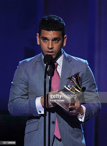 Tito El Bambino accepts the Best Contemporary Tropical Album Award onstage during the 12th annual Latin GRAMMY Awards at the Mandalay Bay Events...