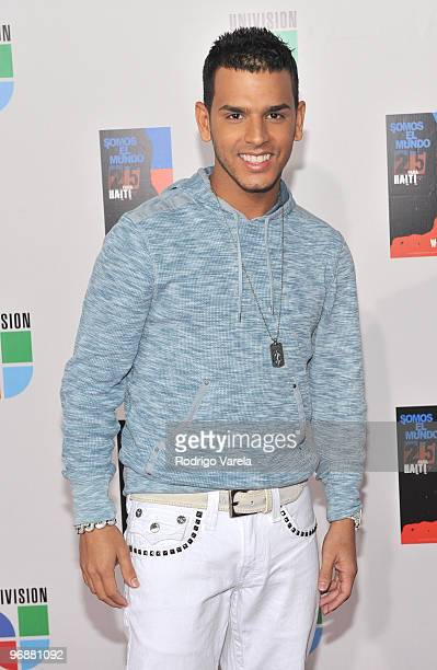 Tito el Bambino arrives at recording of 'Somos El Mundo' 'We Are The World' by Latin recording artist at American Airlines Arena on February 19 2010...