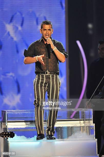 Tito el Bambino on stage at Univisions 2010 Premio Lo Nuestro a La Musica Latina Awards at American Airlines Arena on February 18 2010 in Miami...