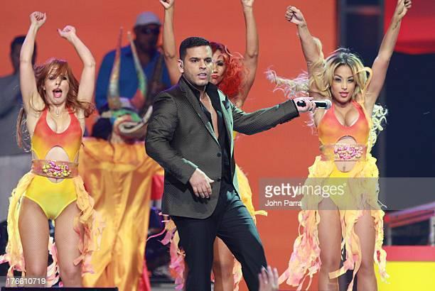 Tito El Bambino on stage during Telemundo's Premios Tu Mundo Awards at American Airlines Arena on August 15 2013 in Miami Florida
