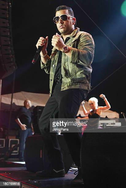 Tito El Bambino performs at the Zolazo concert at Bayfront Park Amphitheater on September 15 2013 in Miami Florida