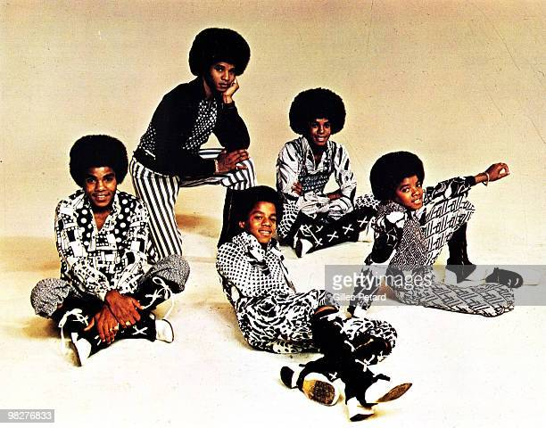 LR Tito Jackie Marlon Jermaine and Michael Jackson of The Jackson Five pose for a studio group portrait in 1973 in the United States