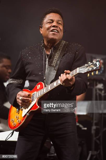 Tito Jackson from The Jacksons performs on the West Holts Stage on day 3 of the Glastonbury Festival 2017 at Worthy Farm Pilton on June 24 2017 in...