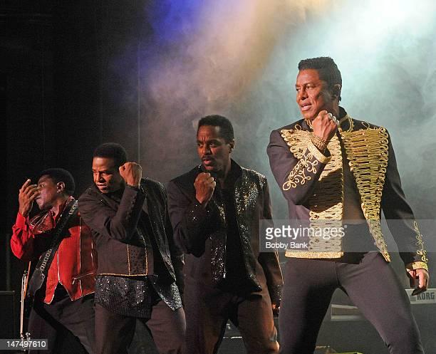 Tito Jackson Jackie Jackson Marlon Jackson and Jermaine Jackson perform at Bergen Performing Arts Center on June 30 2012 in Englewood City