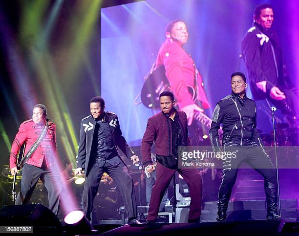 Tito Jackson Jackie Jackson Marlon Jackson and Jermaine Jackson of The Jacksons perform at Night Of The Proms at Ahoy on November 23 2012 in...