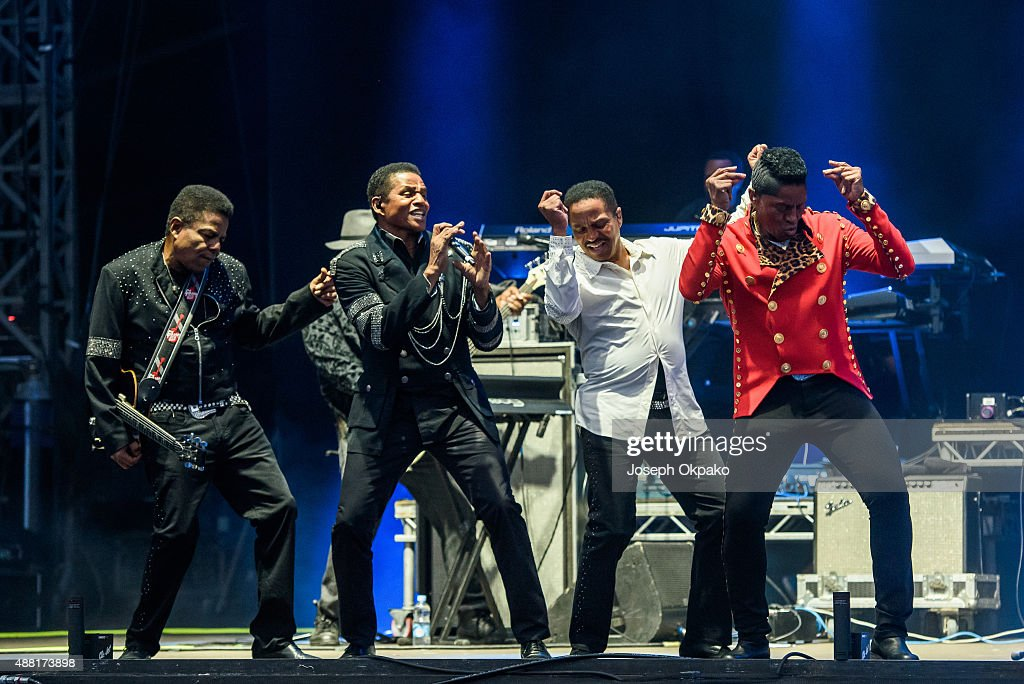 Tito Jackson Jackie Jackson Marlon Jackson Jermain Jackson of The Jacksons performs on day 4 of Bestival at Robin Hill Country Park on September 13...