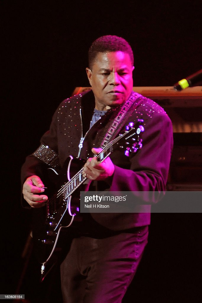 <a gi-track='captionPersonalityLinkClicked' href=/galleries/search?phrase=Tito+Jackson&family=editorial&specificpeople=216556 ng-click='$event.stopPropagation()'>Tito Jackson</a> of the Jacksons performs on stage in concert at Manchester Apollo on February 27, 2013 in Manchester, England.