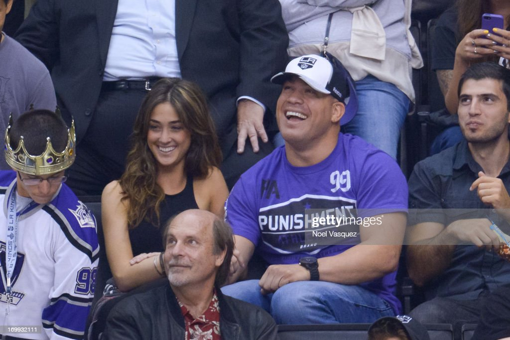 <a gi-track='captionPersonalityLinkClicked' href=/galleries/search?phrase=Tito+Ortiz&family=editorial&specificpeople=233546 ng-click='$event.stopPropagation()'>Tito Ortiz</a> attends an NHL playoff game between the Chicago Blackhawks and the Los Angeles Kings at Staples Center on June 4, 2013 in Los Angeles, California.