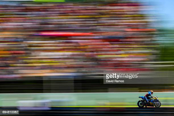 Tito Rabat of Spain and EG 00 Marc VDS rides during the MotoGp of Catalunya at Circuit de Catalunya on June 11 2017 in Montmelo Spain