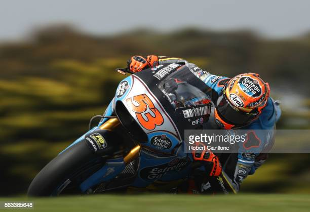 Tito Rabat of Spain rides the EG 00 MARC VDS Honda during free practice for the 2017 MotoGP of Australia at Phillip Island Grand Prix Circuit on...