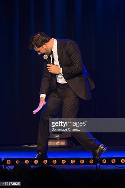 Titoff performs on stage during the 30th International Festival MontBlanc D'Humour on March 16 2014 in SaintGervaislesBains France
