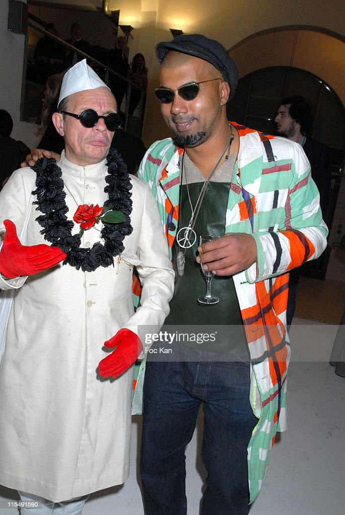 Titus and Karim Bonnet from Impasse de La Defense attend the Facade Magazine Celebration Cocktail Party at the Passage du Desir on October 72007 In...