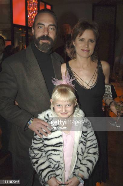 Titus Welliver Kim Dickens and Bree Seanna Wall during HBO's 'Deadwood' Season 2 Los Angeles Premiere After Party in Los Angeles California United...