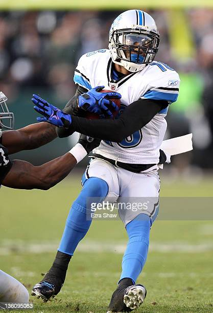 Titus Young of the Detroit Lions in action against the Oakland Raiders at Oco Coliseum on December 18 2011 in Oakland California