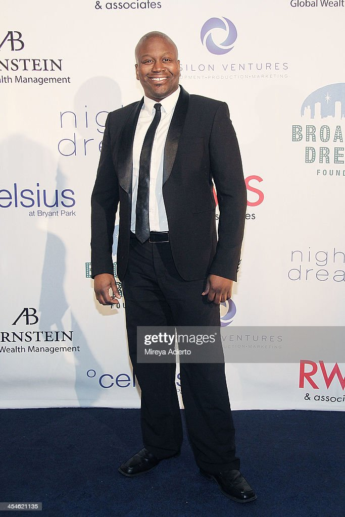 <a gi-track='captionPersonalityLinkClicked' href=/galleries/search?phrase=Tituss+Burgess&family=editorial&specificpeople=757092 ng-click='$event.stopPropagation()'>Tituss Burgess</a> attends the 2013 Broadway Dreams Foundation's 'Night Of Dreams' gala at Celsius on December 9, 2013 in New York City.