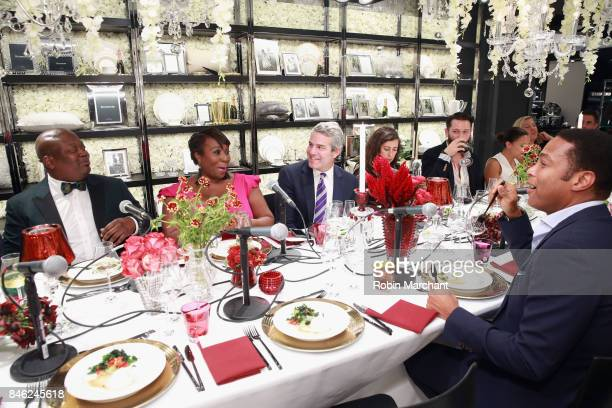 Tituss Burgess Bevy Smith and Andy Cohen attend A Radio Special Celebrating The Anniversary Of Andy Cohen's SiriusXM Channel Radio Andy at...