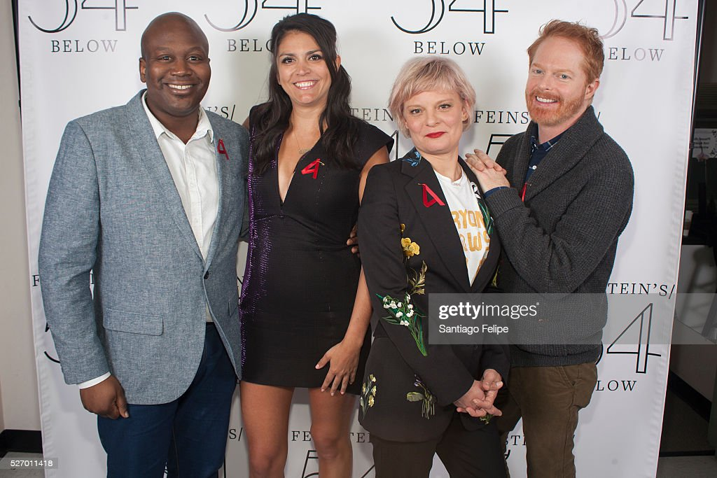 <a gi-track='captionPersonalityLinkClicked' href=/galleries/search?phrase=Tituss+Burgess&family=editorial&specificpeople=757092 ng-click='$event.stopPropagation()'>Tituss Burgess</a>, <a gi-track='captionPersonalityLinkClicked' href=/galleries/search?phrase=Cecily+Strong&family=editorial&specificpeople=9951067 ng-click='$event.stopPropagation()'>Cecily Strong</a>, <a gi-track='captionPersonalityLinkClicked' href=/galleries/search?phrase=Martha+Plimpton&family=editorial&specificpeople=211149 ng-click='$event.stopPropagation()'>Martha Plimpton</a> and <a gi-track='captionPersonalityLinkClicked' href=/galleries/search?phrase=Jesse+Tyler+Ferguson&family=editorial&specificpeople=633114 ng-click='$event.stopPropagation()'>Jesse Tyler Ferguson</a> attend Broadway Acts For Women: A Star-Studded Night Of Karaoke And Comedy at 54 Below on May 1, 2016 in New York City.