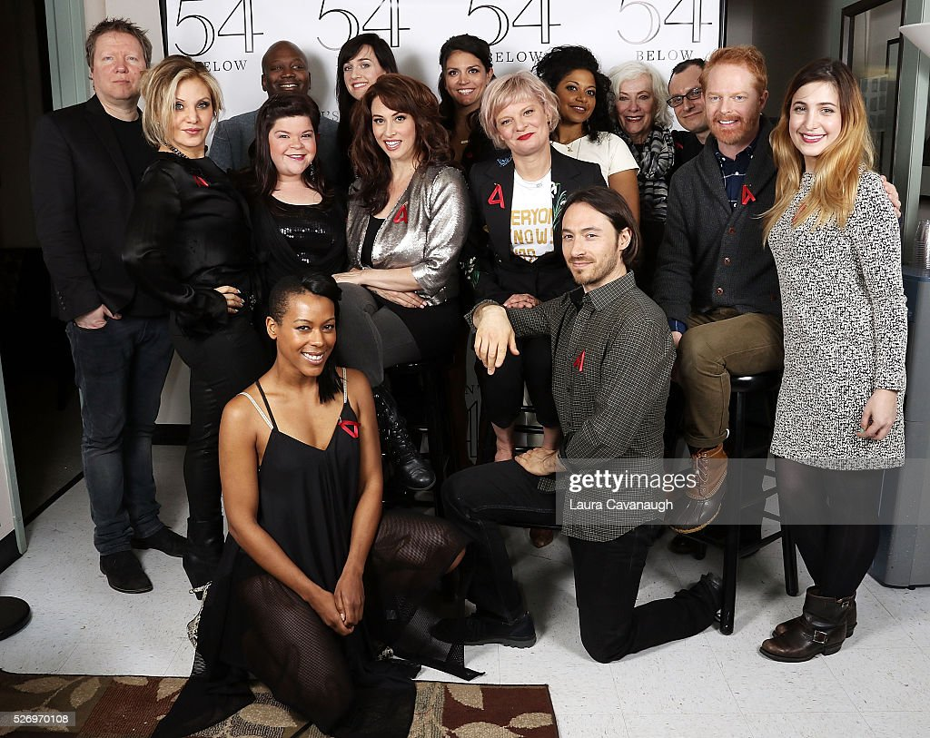 Tituss Burgess, Orfeh, Lena Hall, Leslie Margherita, Cecily Strong, Martha Plimpton, Rebecca Naomi Jones, Betty Buckley, Jesse Tyler Ferguson and crew attend Broadway Acts for Women: A Star-Studded Night of Karaoke and Comedy at 54 Below on May 1, 2016 in New York City.