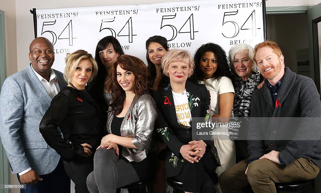 Tituss Burgess, Orfeh, Lena Hall, Leslie Margherita, Cecily Strong, Martha Plimpton, Rebecca Naomi Jones, Betty Buckley and Jesse Tyler Ferguson attend Broadway Acts for Women: A Star-Studded Night of Karaoke and Comedy at 54 Below on May 1, 2016 in New York City.