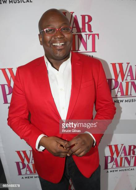 Tituss Burgess poses at the opening night of the new musical 'War Paint' on Broadway at The Nederlander Theatre on April 6 2017 in New York City