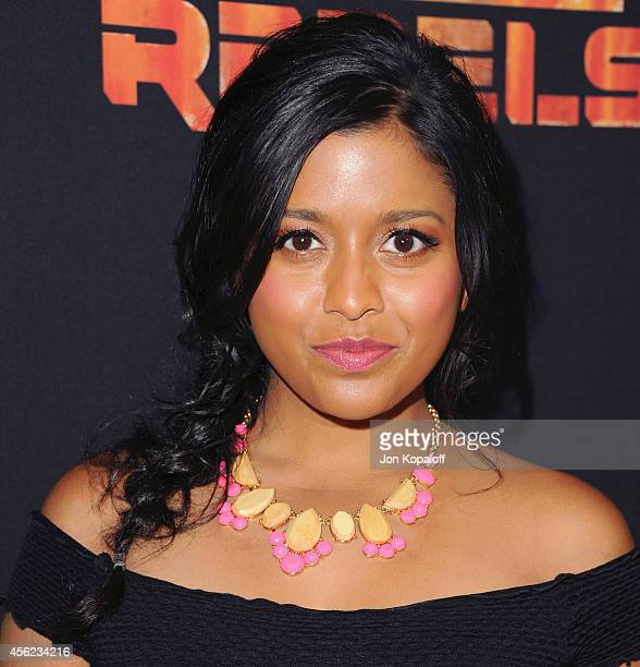 Tiya Sircar arrives at the Los Angeles special screening 'Star Wars Rebels' at AMC Century City 15 theater on September 27 2014 in Century City...