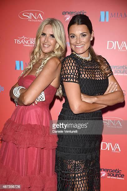 Tiziana Rocca and Alena Seredova attend a party for 'DivaDonna' 10th Anniversary Party during the 72nd Venice Film Festival at Palazzo del Casino on...