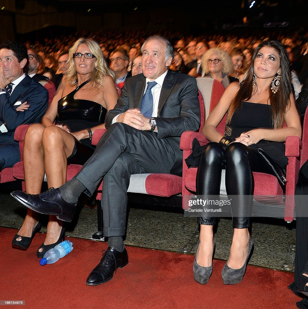 Tiziana Rocca and Antonio Marano attend 'Vorrei... 2013' Charity Event To Support Fondazione FFC at Teatro Sistina on October 28, 2013 in Rome, Italy.