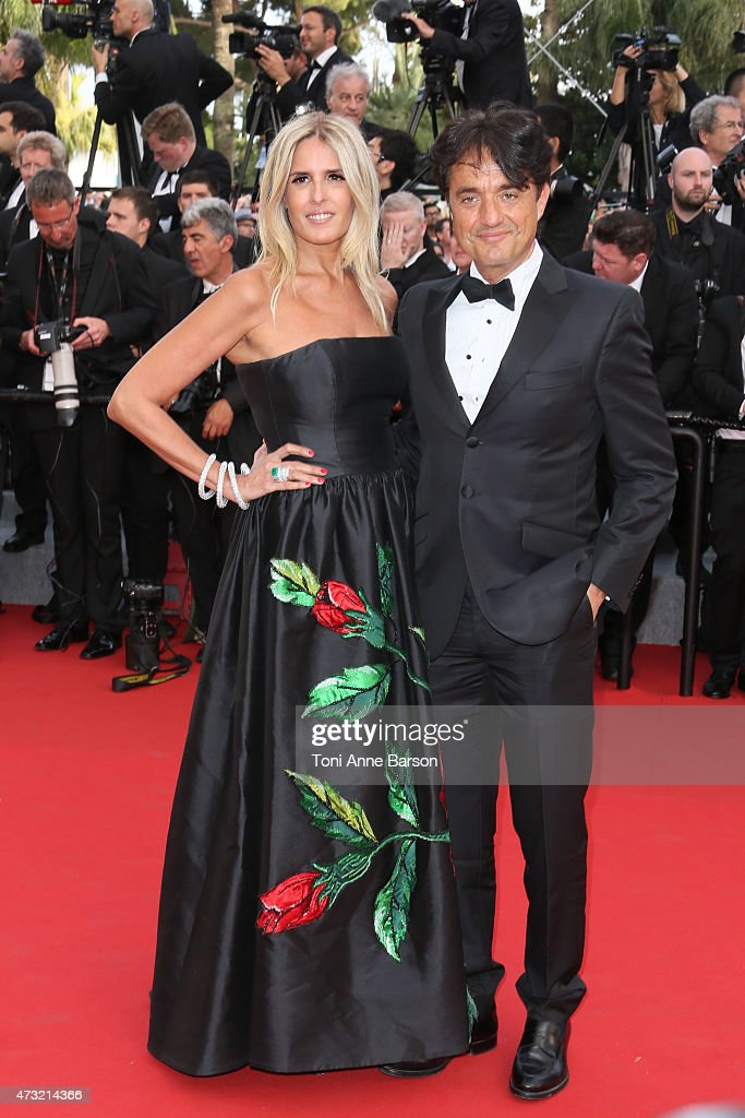 Tiziana Rocca and Giulio Base attends the opening ceremony and 'La Tete Haute' ('Standing Tall') premiere during the 68th annual Cannes Film Festival on May 13, 2015 in Cannes, France.