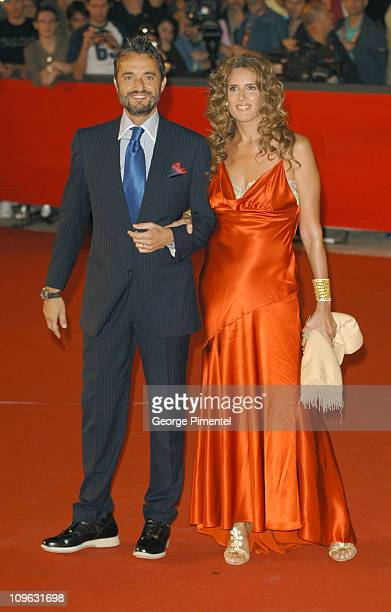 Tiziana Rocca and guest during 1st Annual Rome Film Festival 'Napoleon and Me' Premiere Arrivals at Auditorium Parco della Musica in Rome Italy