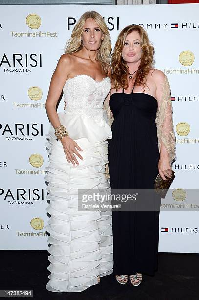 Tiziana Rocca and Kelly LeBrock attends the 'Closing Ceremony Gala Dinner host Tommy Hilfiger' during the 58th Taormina Film Fest on June 28 2012 in...