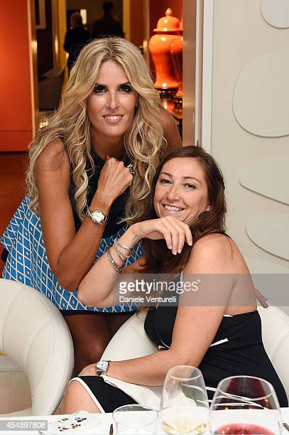 Tiziana Rocca and Lucia Parisini attend Tiziana Rocca Birthday Party during the 71st Venice Film Festival at Centurion Palace Hotel on August 30 2014...