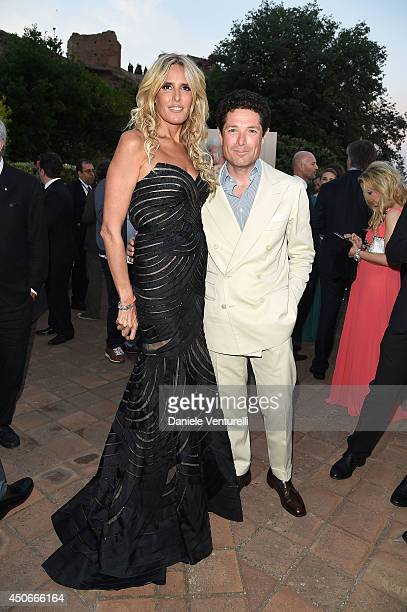 Tiziana Rocca and Matteo Marzotto attend the 60th Taormina Film Fest on June 15 2014 in Taormina Italy