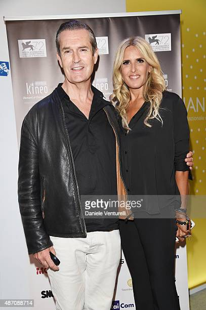 Tiziana Rocca and Rupert Everett attend a photocall for Kineo Award during the 72nd Venice Film Festival at Palazzo del Casino on September 6 2015 in...