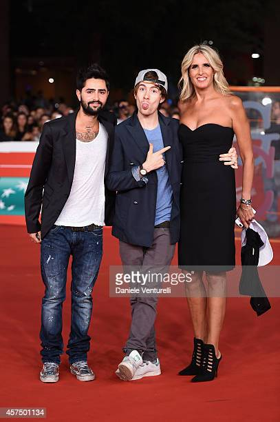 Tiziana Rocca attends 'Giulio Cesare Compagni di scuola' Red Carpet during the 9th Rome Film Festival at Auditorium Parco Della Musica on October 19...