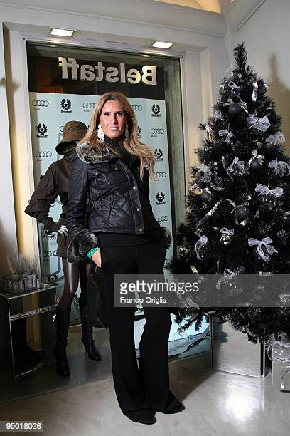 Tiziana Rocca attends the 'Amelia' premiere cocktail party at the Belstaff Rome store on December 22 2009 in Rome Italy