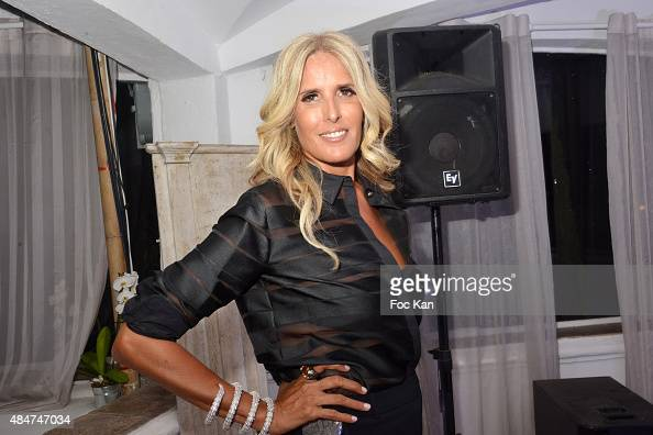 Tiziana Rocca attends the Massimo Gargia Birthday Party at Les Moulins De Ramatuelle on August 20 2015 in SaintTropez France