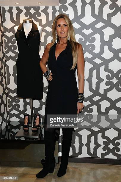 Tiziana Rocca attends the opening of the ''Ester Maria Rivaroli'' flagship store on March 25 2010 in Rome Italy