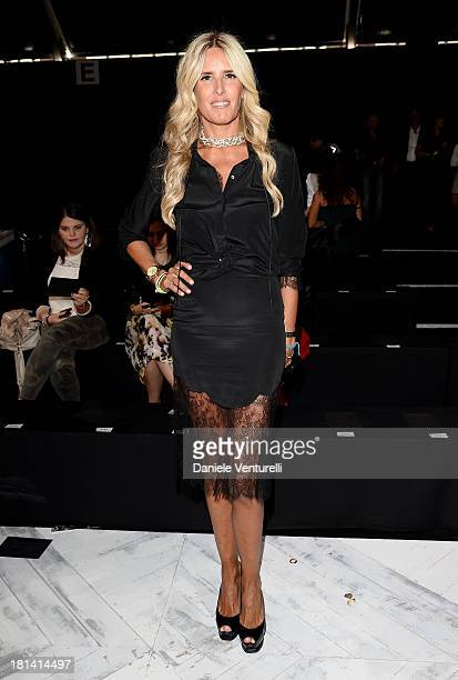 Tiziana Rocca attends the Roberto Cavalli show as a part of Milan Fashion Week Womenswear Spring/Summer 2014 on September 21 2013 in Milan Italy