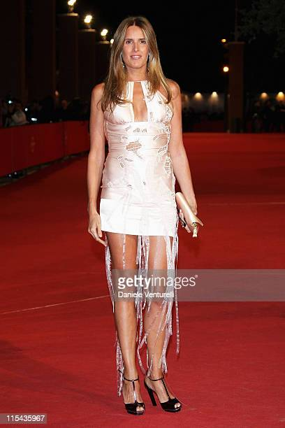 Tiziana Rocca attends the 'Un Principe Chiamato Toto' premiere during Day 6 of the 2nd Rome Film Festival on October 23 2007 in Rome Italy