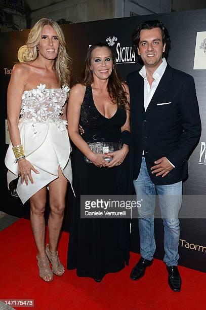 Tiziana Rocca Barbara de Rossi and Micael Curatolo attend the 'La Botte 40th Anniversary' Gala Dinner during the 58th Taormina Film Fest on June 26...