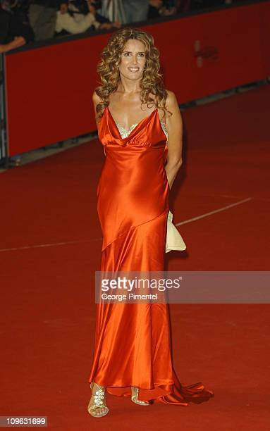 Tiziana Rocca during 1st Annual Rome Film Festival 'Napoleon and Me' Premiere Arrivals at Auditorium Parco della Musica in Rome Italy